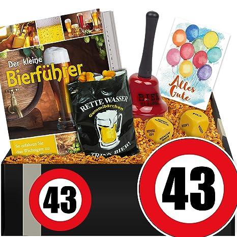 Zahl 43 Bier Set Mit Trinkspiel Geschenke 43 Geburtstag Mann