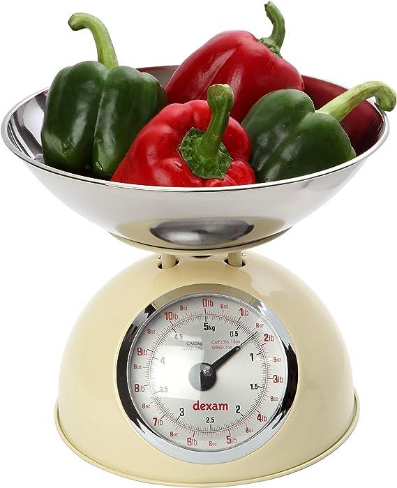 Youdoit Balanza de Cocina Estilo Retro 5 kg - Beige: Amazon.es