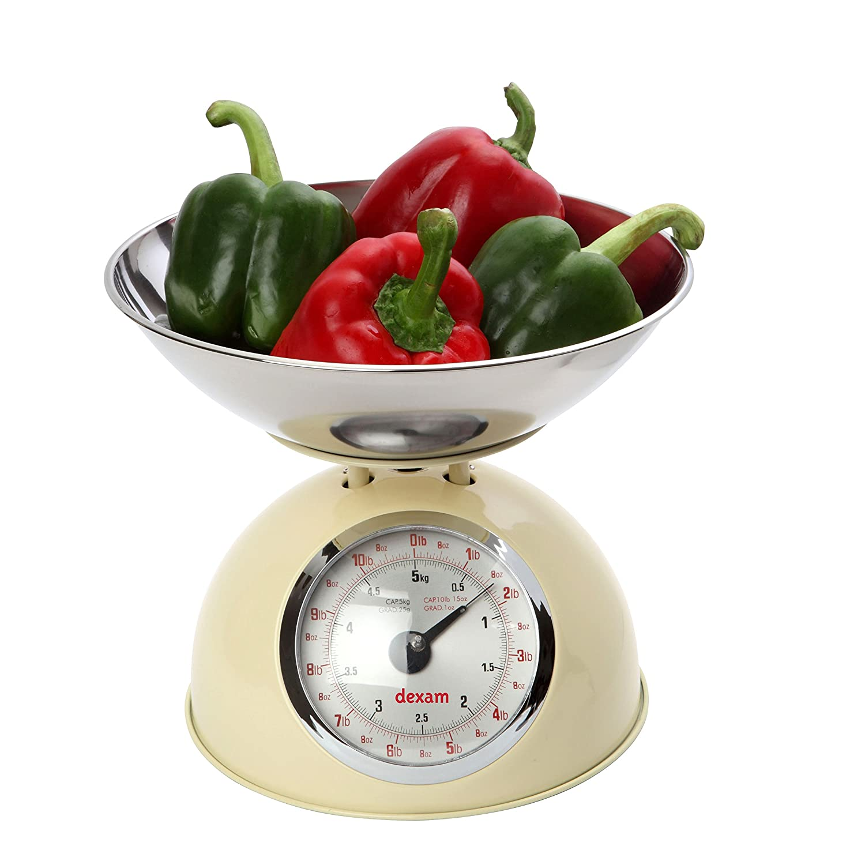 Retro Kitchen Scales Uk Typhoon Novo Cream Stainless Steel Mechanical Kitchen Weighing