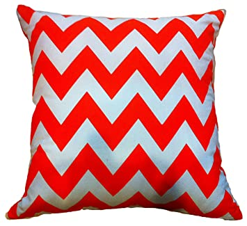Fantastic Artiwa Sale Contemporary Zig Zag Orange And White 18X18 Canvas Cotton Sofa Bed Throw Decorative Pillow Case Gift Idea For Women Men Wife Mom Sister Pdpeps Interior Chair Design Pdpepsorg