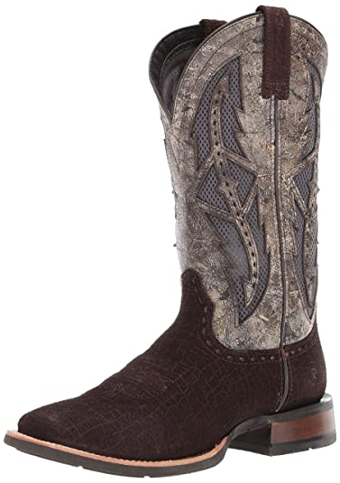 30c8af929 ARIAT Cowhand Venttek Western Boot Chocolate Hippo Print Size 7 M US