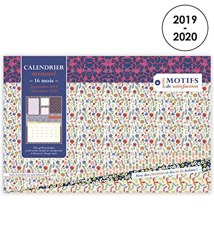 September 23 2020 Calendar Amazon.: Motif of Satisfaction 2019   2020 Calendar 15 x 23 cm