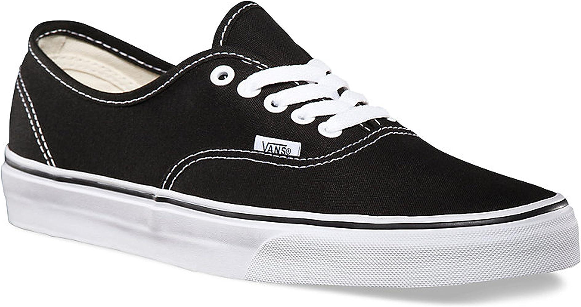 Vans Authentic Black White Canvas