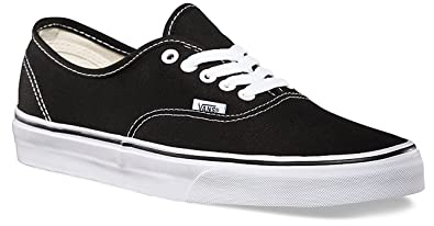 ebc94b305f1ed Amazon.com | Vans Authentic Black Canvas Mens Trainers Size 7 US ...