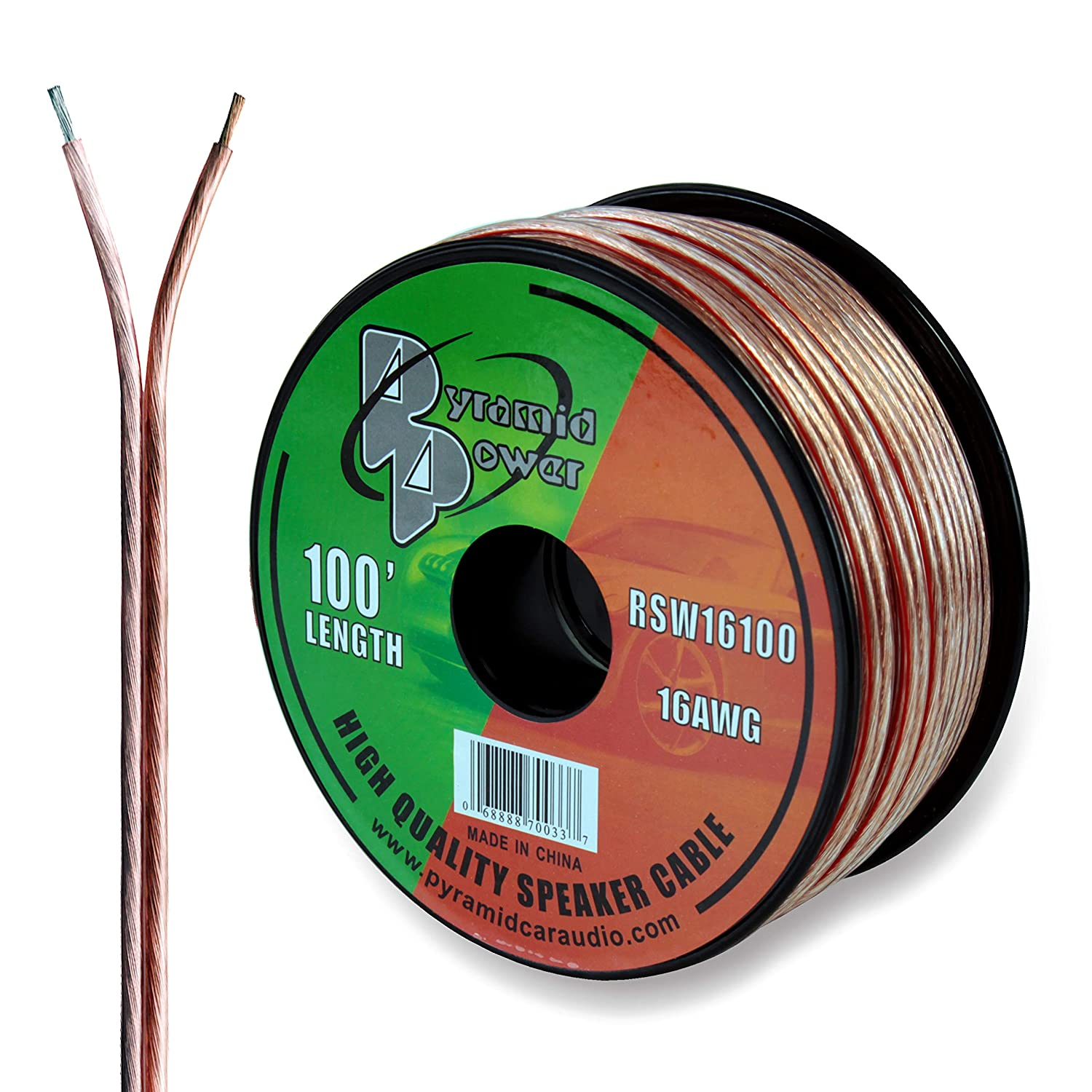100ft 18 Gauge Speaker Wire Copper Cable In Spool For China Electric Single Core Ground Bv Photos Connecting Audio Stereo To Amplifier Surround Sound System Tv Home Theater And Car