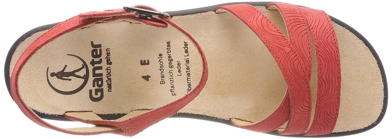 Ganter Damen Damen Ganter Sonnica-e Offene Sandalen Rot (ROT) b6a94d