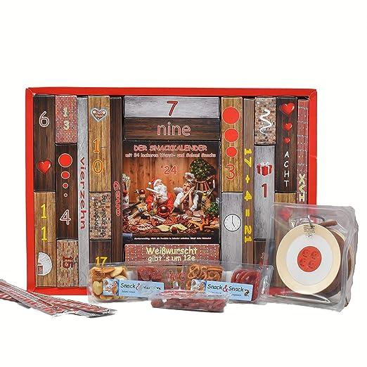 WURSTBARON® - Adventskalender mit Wurst-Kabeltrommel und vielen leckeren Salami Snacks: Amazon.de: Grocery