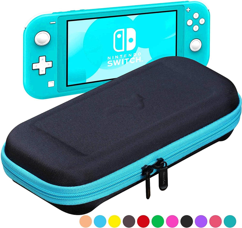 ButterFox Compact Switch Lite - Funda de Transporte para Nintendo Switch Lite con 19 Juegos y 2 Soportes para Tarjetas Micro SD, Color Turquesa y Negro: Amazon.es: Informática