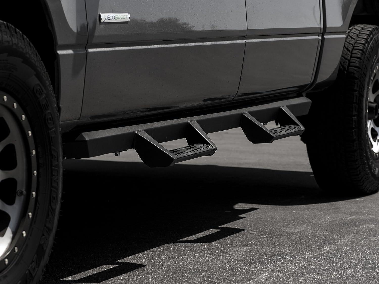 Matte Black Armordillo USA 7180017 AR Drop Steps Fits 2007-2018 Chevy Silverado 1500 Crew Cab