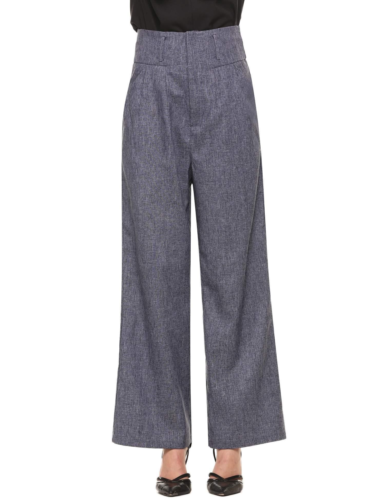 Zeagoo Women High Waist Pants Wide Flare Leg Style (Small, Blue)
