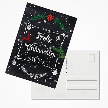 20 Stück Weihnachtspostkarten Set 2018 Postkarten Weihnachten rot ...