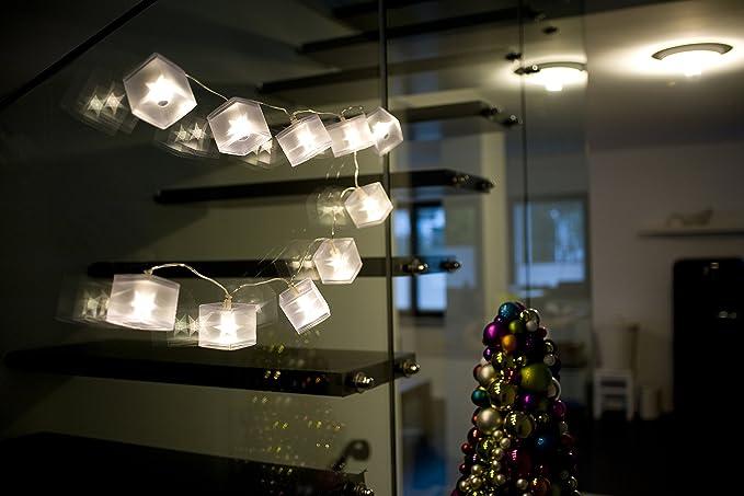 Konstsmide 2775-103 Guirlande D/éco C/âble Transparent 24 V 10 LED Blanc Chaud