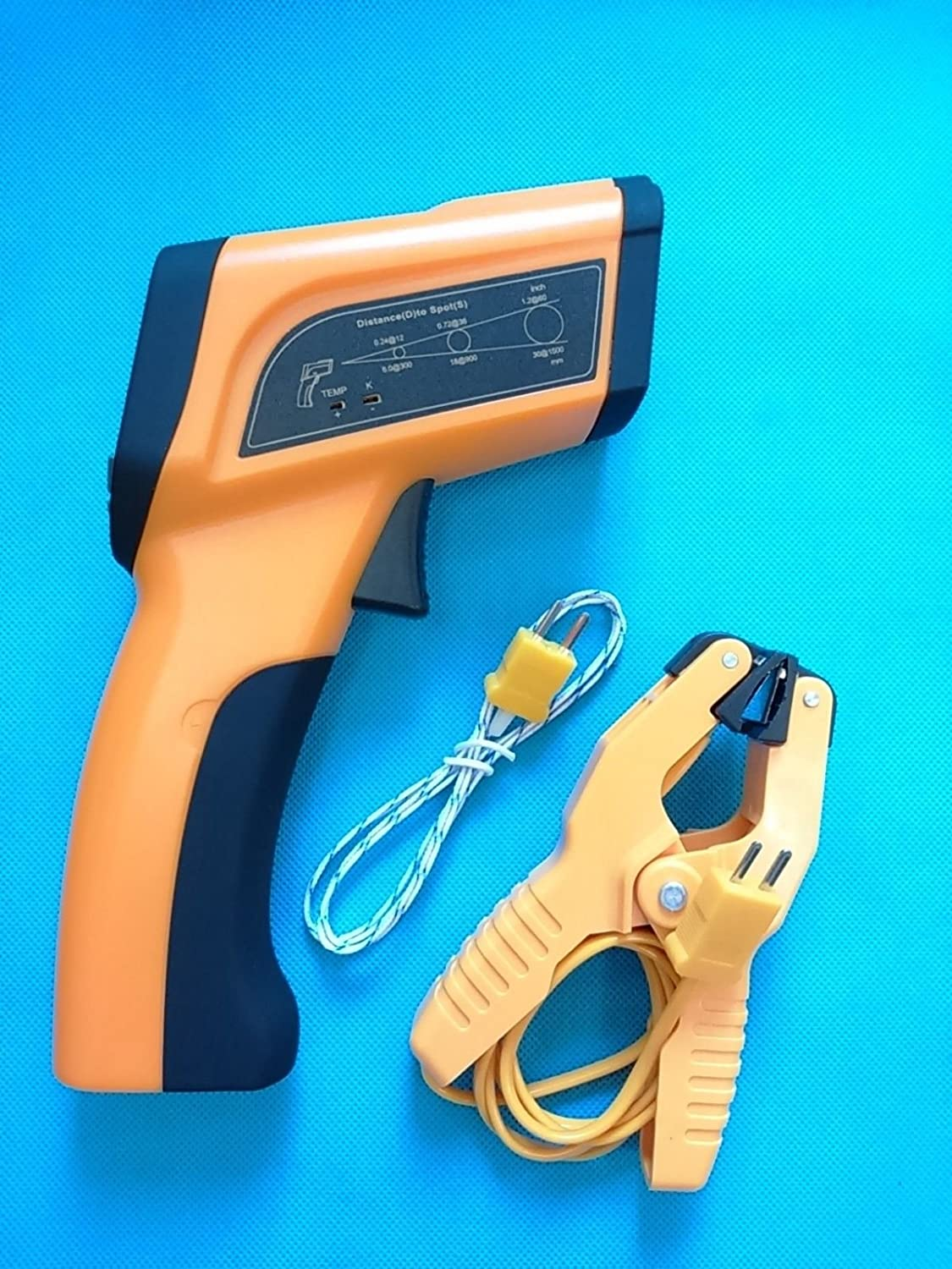 50~3992/°F Infrared Laser Thermometer w//K-Type Clamp PerfectPrime TM6899 High Temperature