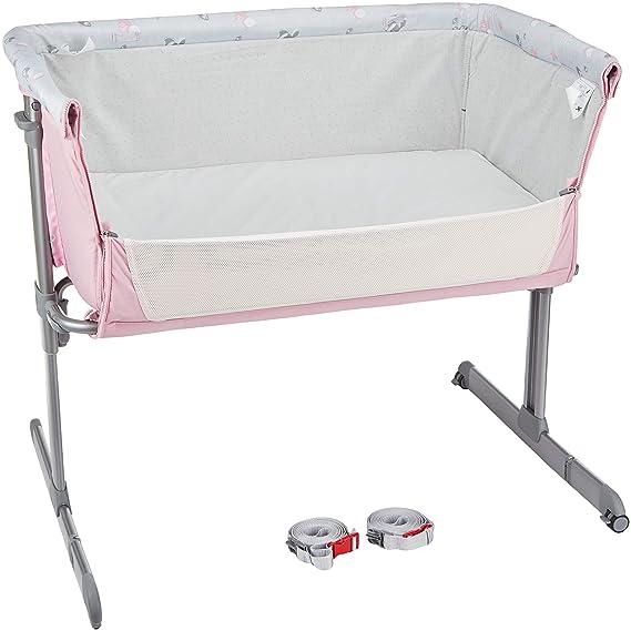 Chicco Next2me - Cuna de colecho con anclaje a cama y 6 alturas, colección 2017, color rosa: Amazon.es: Bebé