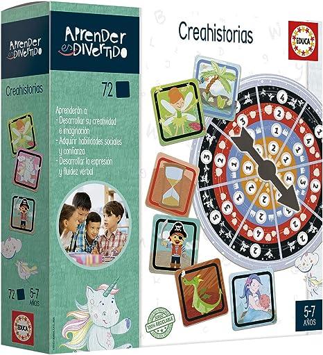 Educa- Aprender es Divertido: Crear Historias Juego Educativo para niños, a Partir de 5 años (18694): Amazon.es: Juguetes y juegos