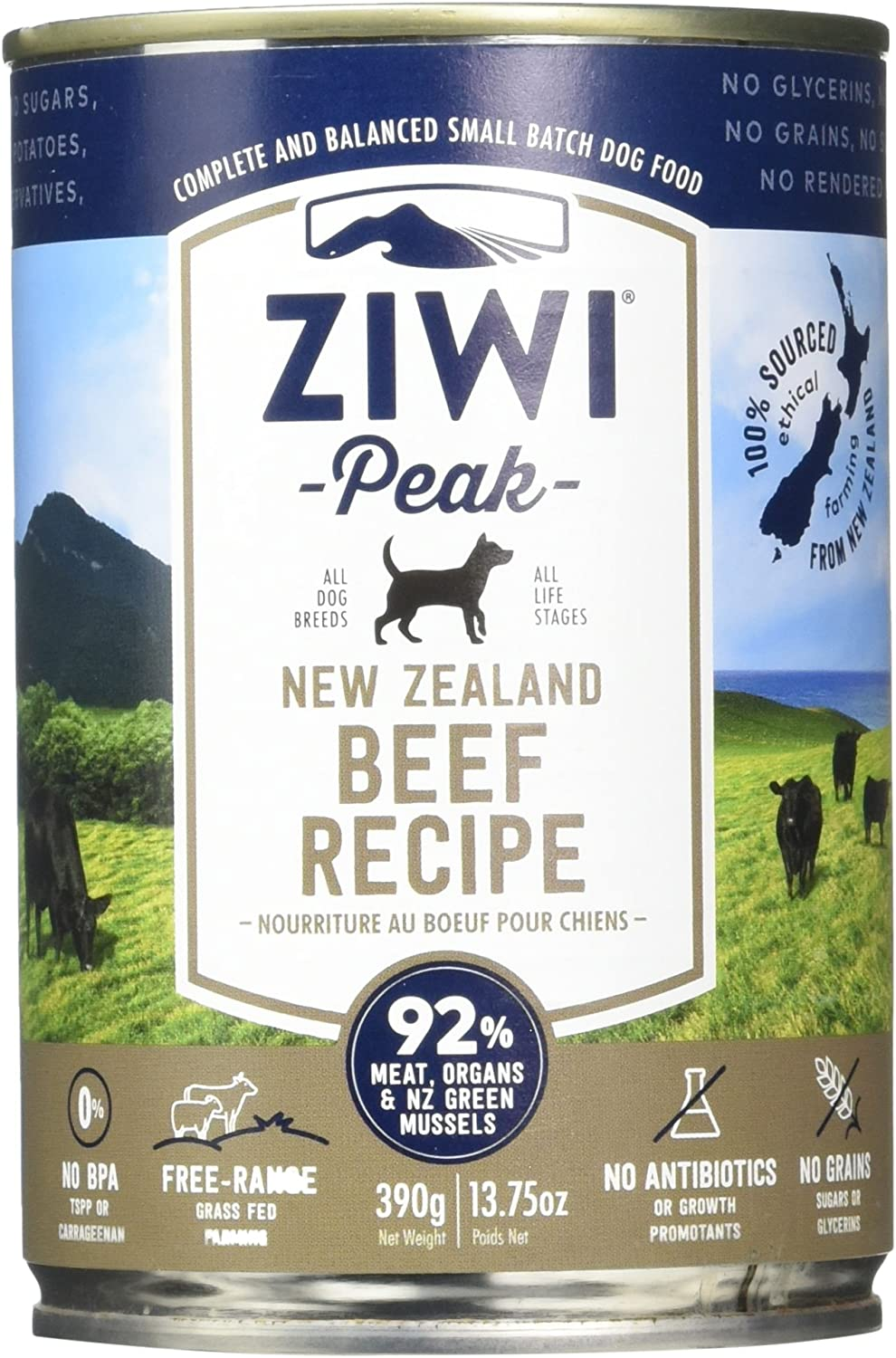 Ziwipeak Zpcdb0390C-Us Beef Cuisine Pet Food, 13.75 Oz