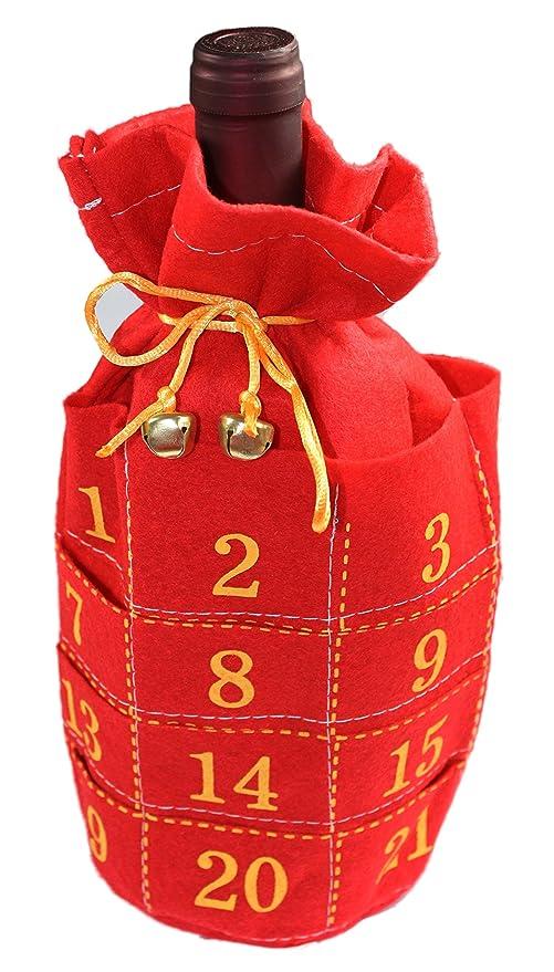 Calendario de Adviento para botellas Disfraz – Rojo de Adviento ...