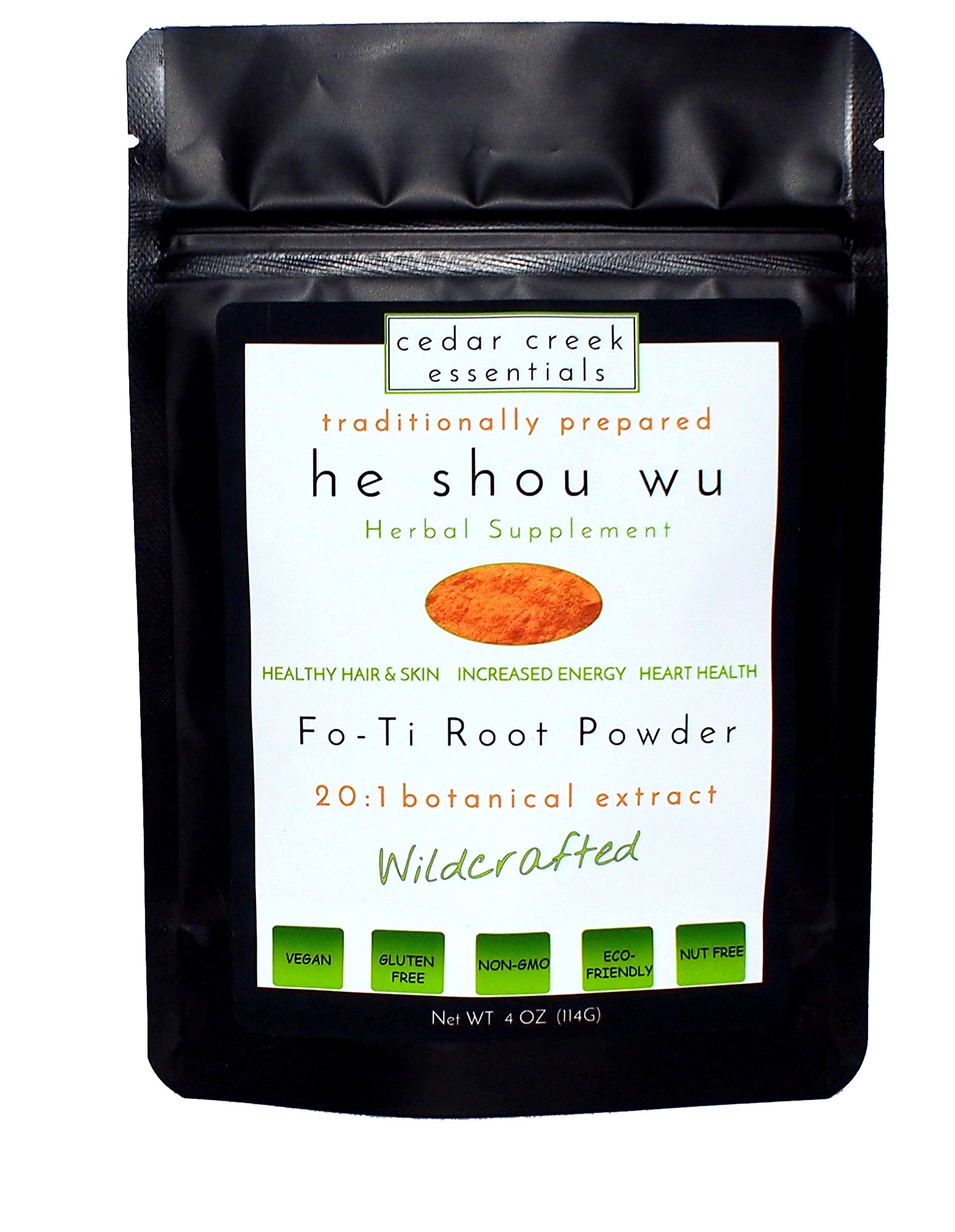 Fo-ti Root Extract Powder - He Shou Wu 20:1 Botanical Extract Concentrate - Traditionally Prepared - 100% Natural Herbal Supplement (4oz)