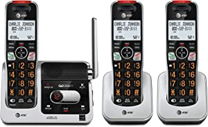 AT&T BL102-3 DECT 6.0 3-Handset Cordless Phone for Home with Answering Machine, Call Blocking, Caller ID Announcer, Audio Assist, Intercom, and Unsurpassed Range