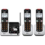 AT&T BL102-3 DECT 6.0 3-Handset Cordless Phone for Home with Answering Machine, Call Blocking, Caller ID Announcer, Audio Ass