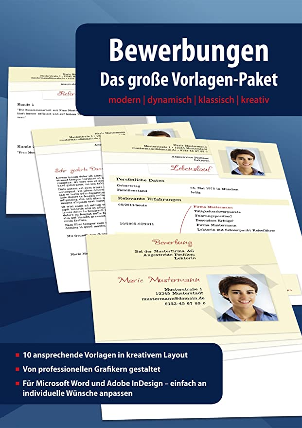Bewerbungen - Das große Vorlagen Paket - modern - dynamisch ...