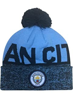 72e7c7599f5 Manchester City FC Adults Official Knitted Winter Football Soccer ...