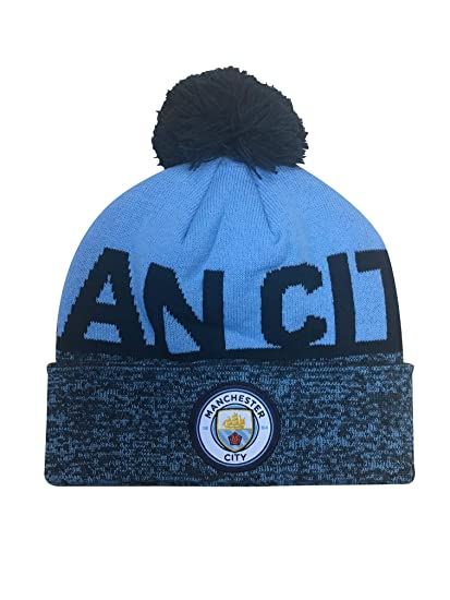 e7a73ecb164f49 Icon Sports Manchester City Official Licensed Pom Beanie (Heathered)