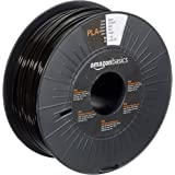 Amazon Basics PLA 3D Printer Filament, 2.85mm, Black, 1 kg Spool