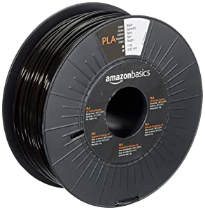 AmazonBasics PLA 3D Printer Filament, 2.85mm, Black, 1 kg Spool