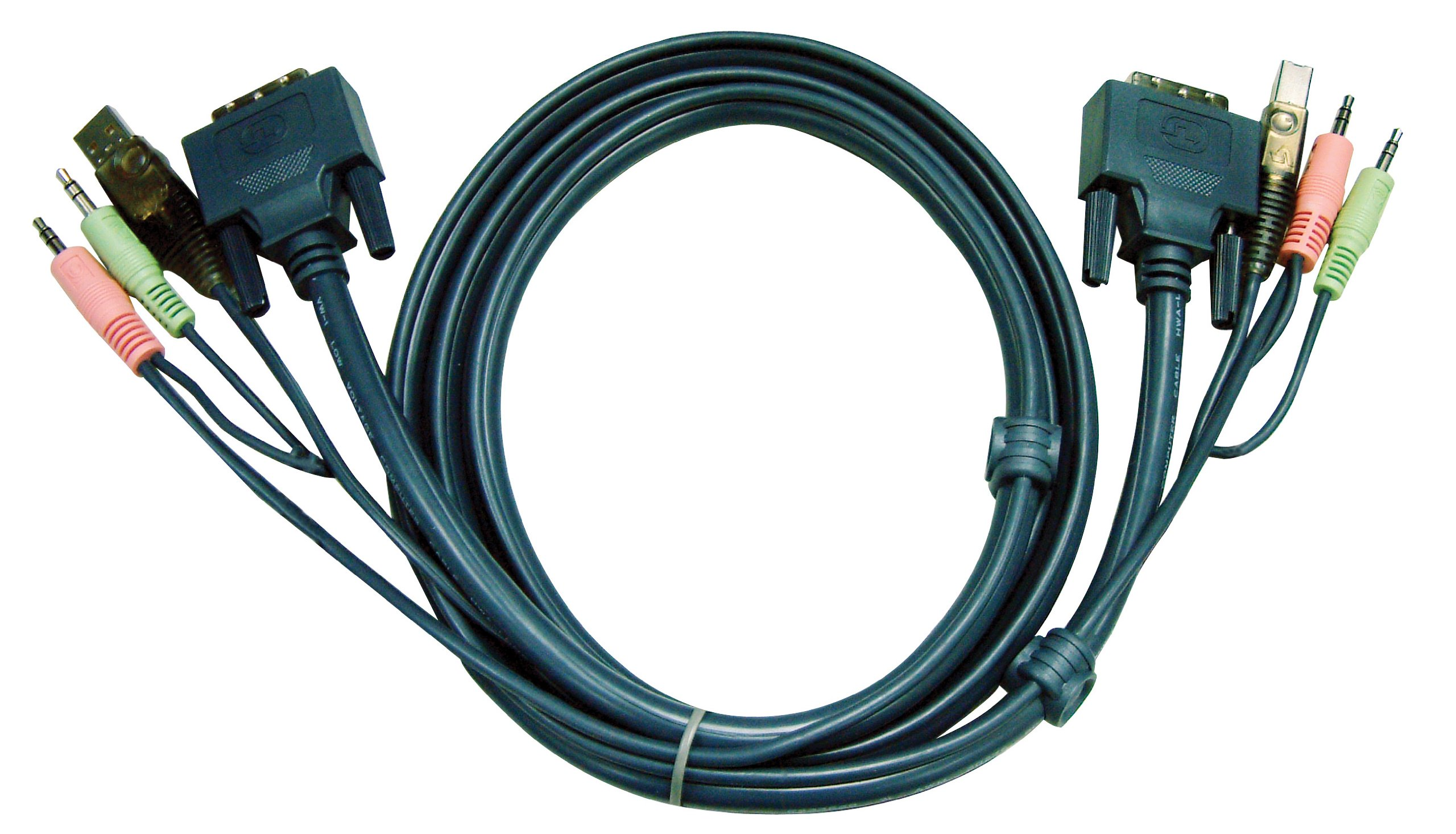 ATEN USB DVI-D Single Link KVM Cable for CS1762A & CS1764A (10 Feet) 2L7D03U by ATEN