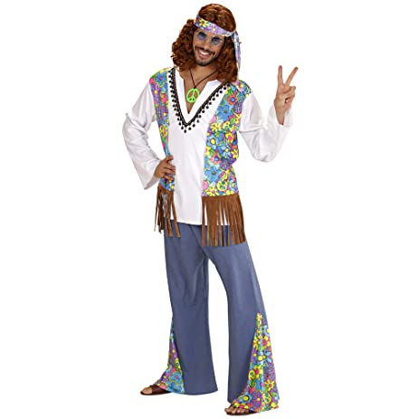 Mens Woodstock Hippie Man Costume Small Uk 38/40u0026quot; For 60s 70s Hippy Fancy  sc 1 st  Amazon.com : mens hippy costume  - Germanpascual.Com