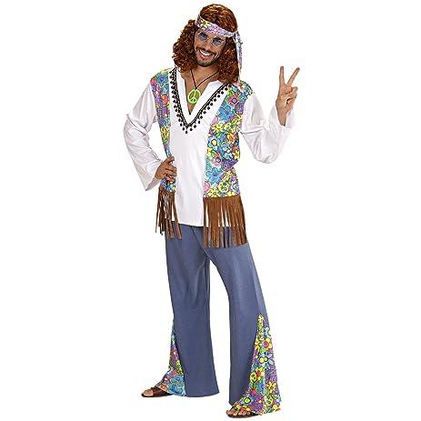 Mens Woodstock Hippie Man Costume Small Uk 38/40u0026quot; For 60s 70s Hippy Fancy  sc 1 st  Amazon.com & Amazon.com: Mens Woodstock Hippie Man Costume Small Uk 38/40