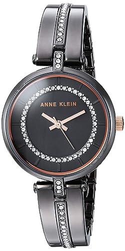 9da63a335dd1 Anne Klein AK 3249GYRT - Reloj de Pulsera para Mujer con Cristales de  Swarovski