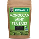 Organic Moroccan Mint Green Tea Bags   100 Tea Bags   Eco-Conscious Tea Bags in Kraft Bag   Raw from Morocco   by FGO