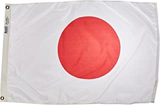 product image for Annin Flagmakers Model 194304 Japan Flag Nylon SolarGuard NYL-Glo, 2x3 ft, 100% Made in USA to Official United Nations Design Specifications