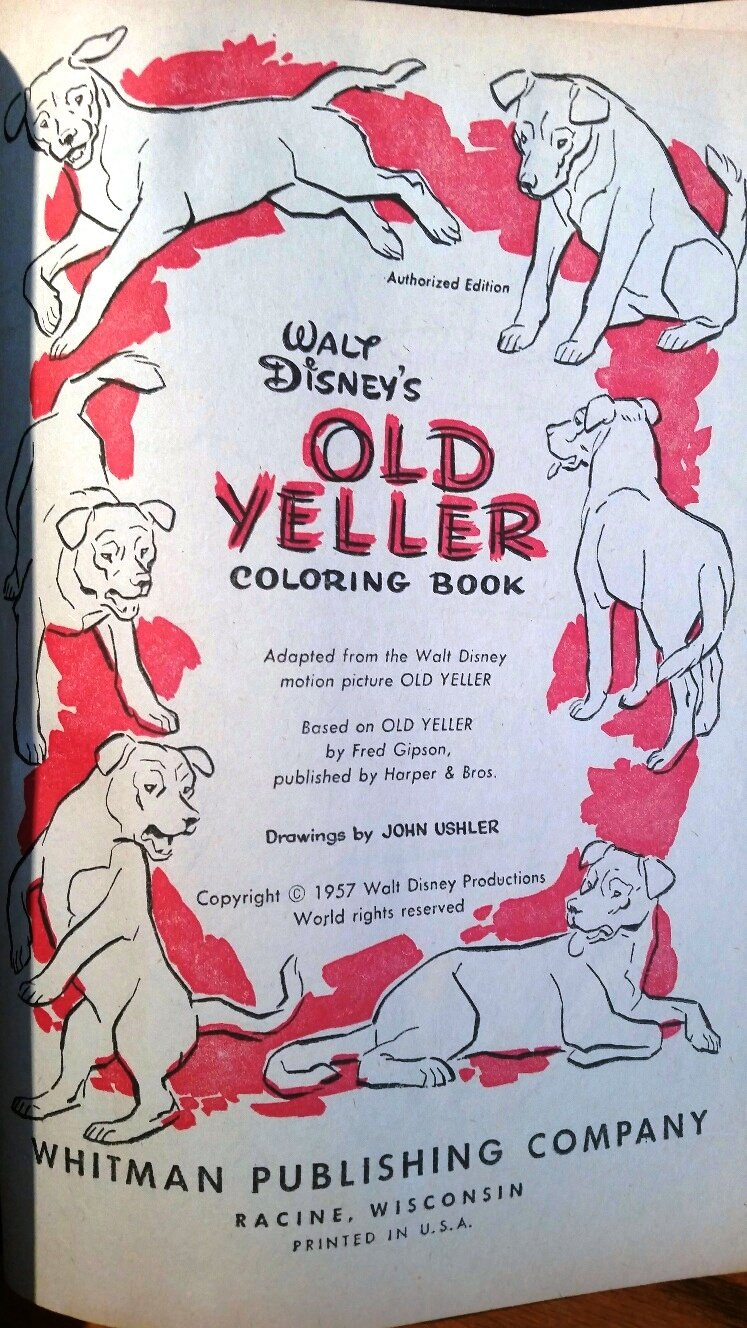 Walt Disney S Old Yeller Coloring Book Amazon Com Books