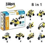 Car Building Blocks Set, Hosim 8-in-1 Assembly Building Blocks Brick Kit Toy Car, 338pcs Bricks Toys for Kids - Unique Shapes Creativity beyond Imagination Children's Educational & Learning Toy