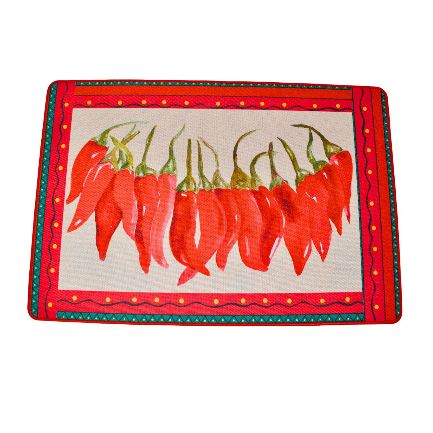 Farm House Red Hot Chili Peppers Accent Rug Fiesta String Chili Peppers 23 inches x 15.75 inches