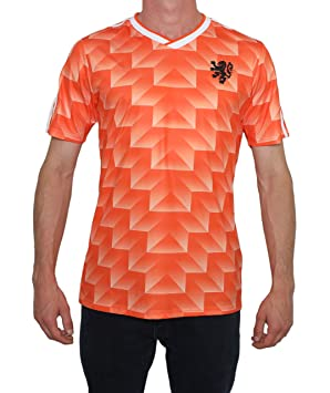 new concept f2b64 7f276 90s Retro Classic Dutch Holland Netherlands jersey football shirt 1988 van  Basten