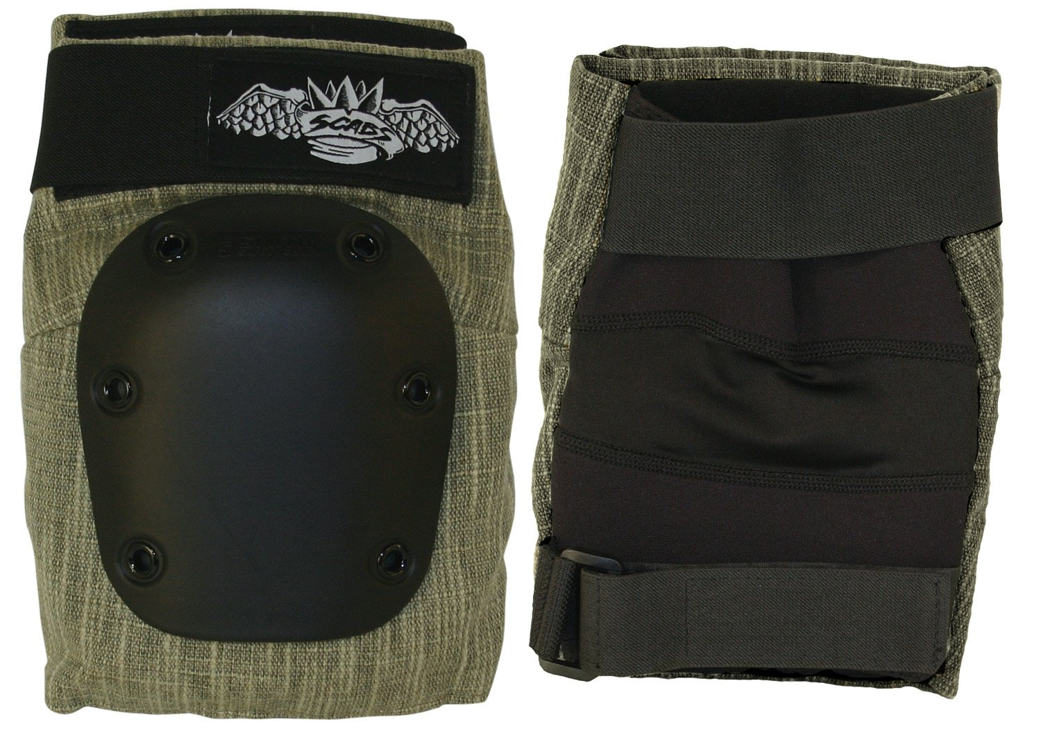Smith Safety Gear Crown Hemp Park Knee Pad, Olive, Medium