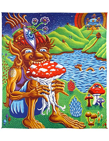 amazon com sunshine joy 3d shroom muncher tapestry trippy wall art