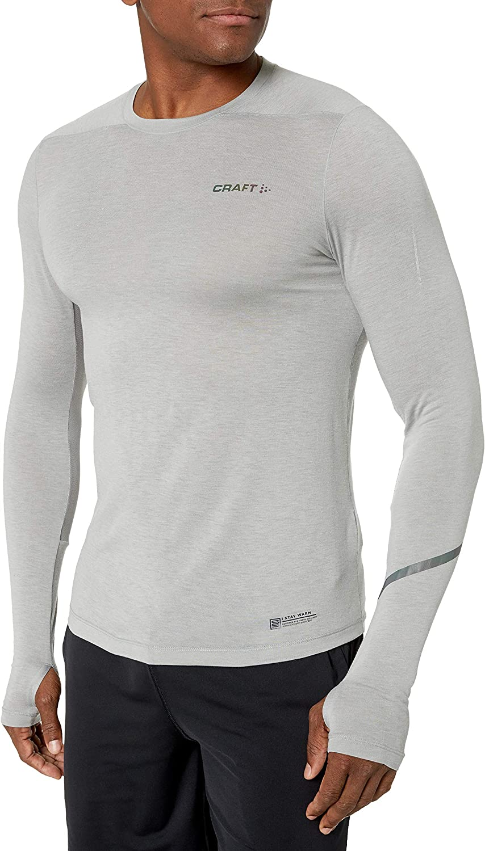 Craft Herren Fuseknit Comfort Langarm T Shirt Top Grau Sport Atmungsaktiv