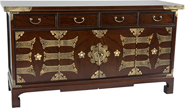 Amazon Com Oriental Furniture Korean Antique Style Coffee Table