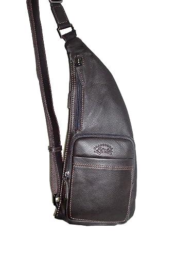 Francinel sac monobretelle en cuir réf 653006 + CADEAU SURPRISE (marron)   Amazon.fr  Chaussures et Sacs 808c3069917