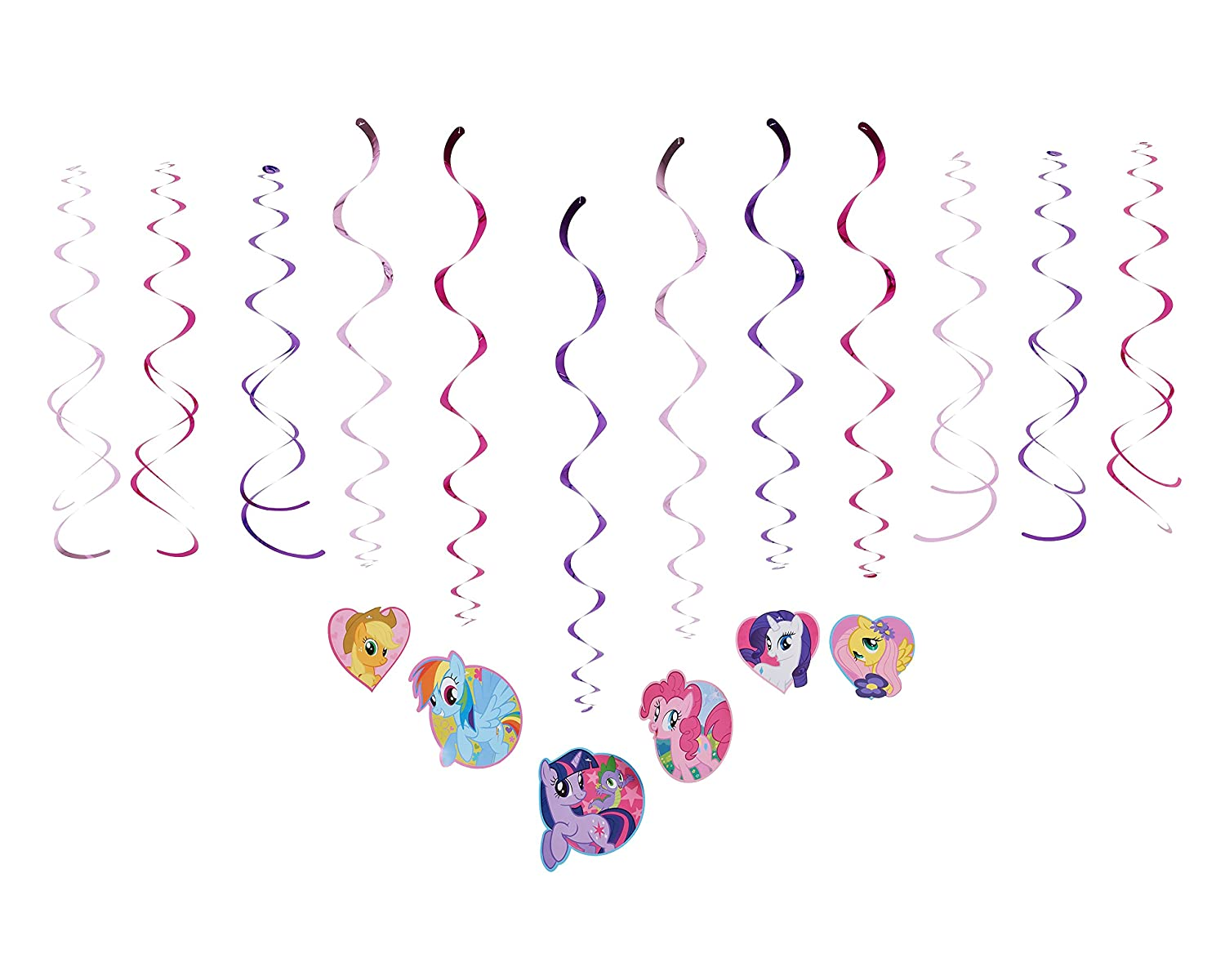 Amazon american greetings amscan ami 675513 my little pony amazon american greetings amscan ami 675513 my little pony swirl decorations ami 675513 1 multicolored kitchen dining kristyandbryce Choice Image