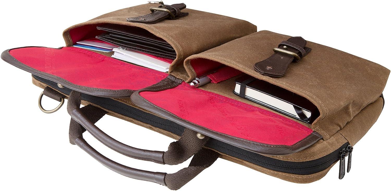 One Size Token Bags Waxed Knickerbocker Laptop Bag 13 Inch Field Tan//Black