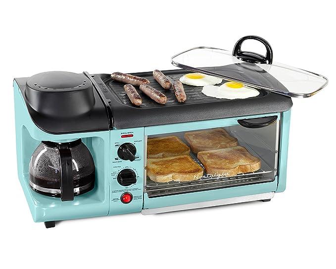 Nostalgia BSET300AQ BSET300BLUE Breakfast Station, Blue