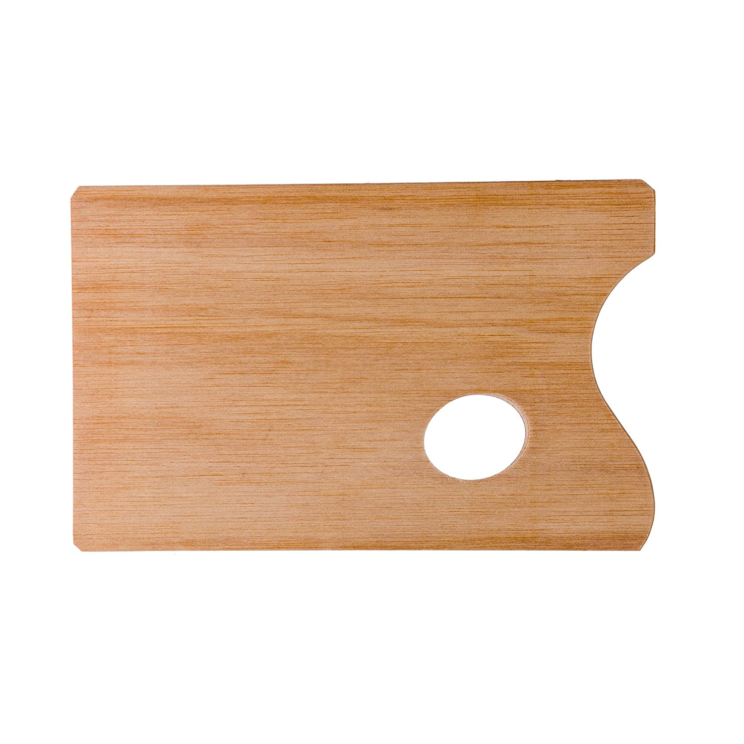 Lienzos Levante 1120102005 - Rectangular painters palette, made with oiled wood veneer