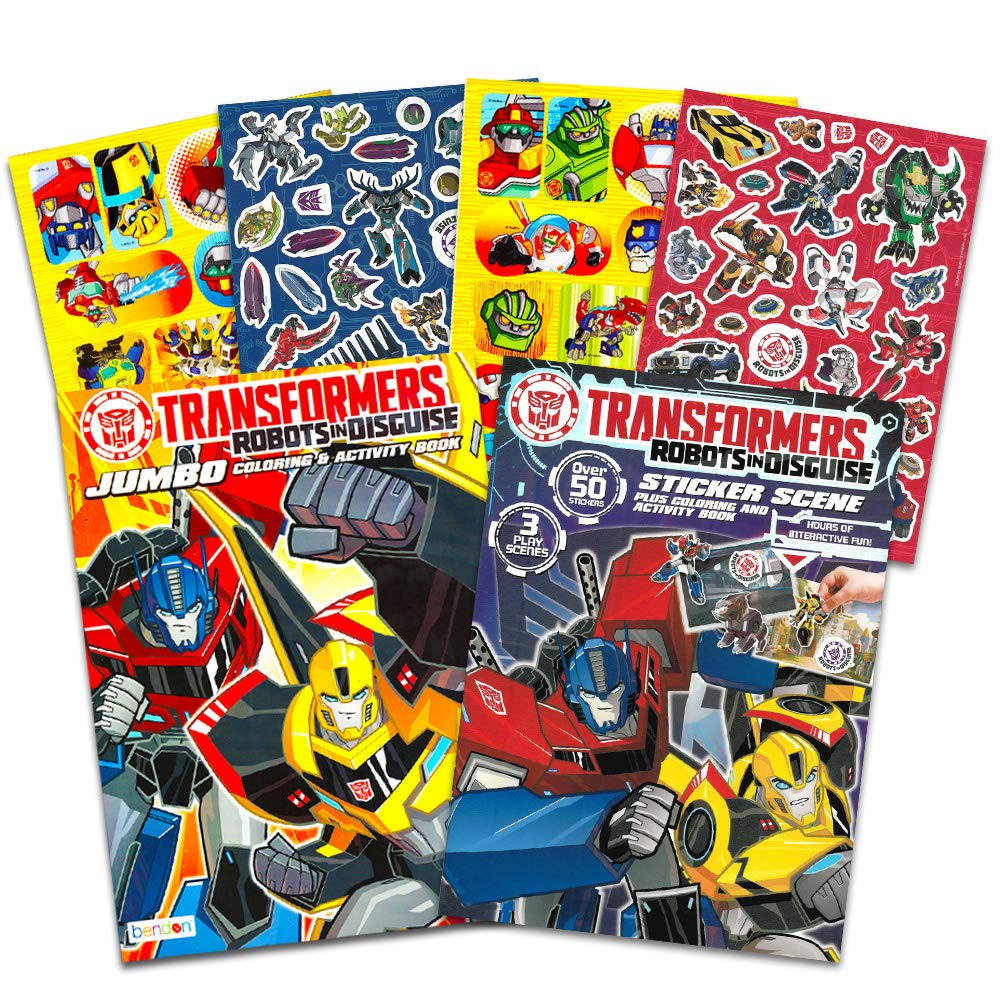 Transformers Rescue Bots Coloring and Activity Book Set With Stickers