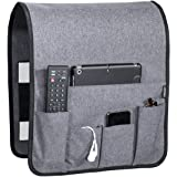 "Works Where Others Don't, Anti Slip Couch Caddy Holds 10lbs w/Hook & Loop Fastener, Easily Holds up to 12"" Laptop, TV…"